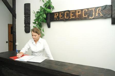 SAK Noclegi Olsztyn hotel recepcja