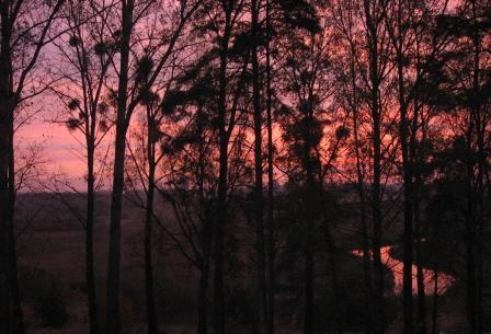 Atrakcje Olsztyn widok zorza nad Łyną