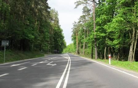 Pierwszy zjazd - skrzyżowanie od Olsztyna trasa 51
