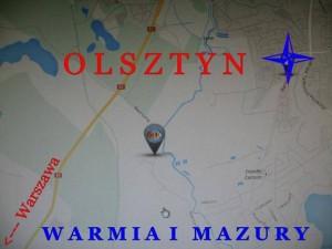 Mapa Olsztyn Hotel Restauracja SAK