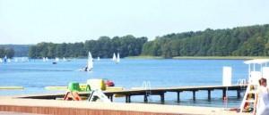 Plaża w Olsztynie nad jeziorem Krzywym - Ukiel