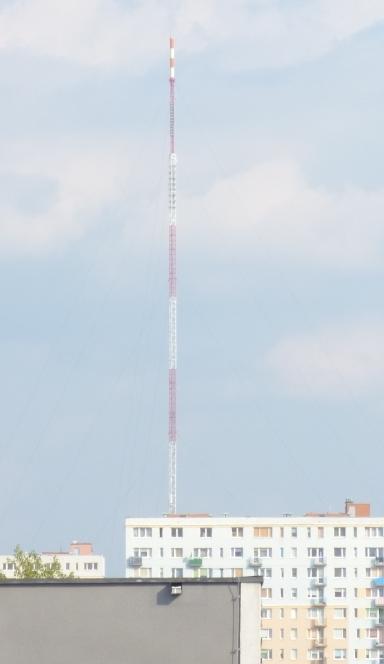 Wieża Telewizyjna Olsztyn widok z Galerii Warmińskiej