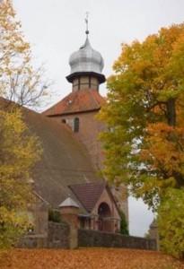 Kościół w Sząbruku koło Olsztyna