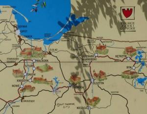 Polskie Zamki Gotyckie Mapa